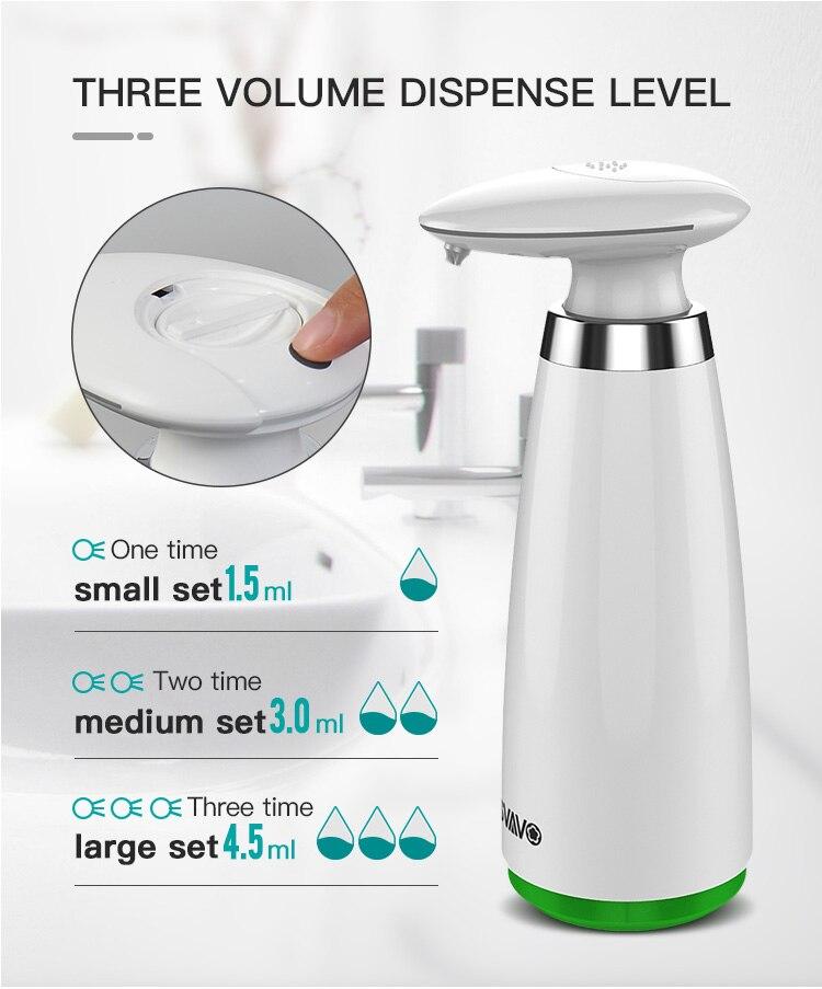 H77573027d4d74f64b608f071bd3ccb7aw 350ml Automatic Soap Dispenser Hand Free Touchless Sanitizer Bathroom Dispenser Smart Sensor Liquid Soap Dispenser for Kitchen