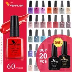 CANNI Гель-лак для ногтей, высокое качество, маникюрный салон, советы 60, горячая Распродажа, цвет, 7,5 мл, VENALISA, впитывается, органический УФ свето...
