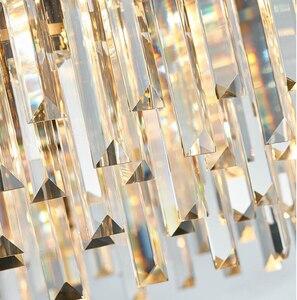 Image 5 - Роскошная Современная Люстра из розового золота, Клубная дуплексная вилла, дизайнерская модель для комнаты, гостиной, круглая Хрустальная Светодиодная лампа для свадебного декора