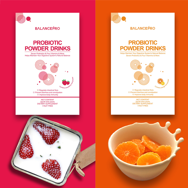 מפעל ישיר מכירות של 7-זנים פרוביוטיקה & prebiotic ויטמין פירות אבקה לשתות כדי לשמור על גוף בריאות & beautful (2 חתיכות)
