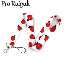 Ladybird Neck Strap Lanyards ID badge card holder keychain Mobile Phone Strap Gifts webbings ribbons свитшот playtoday playtoday mp002xg00pvv