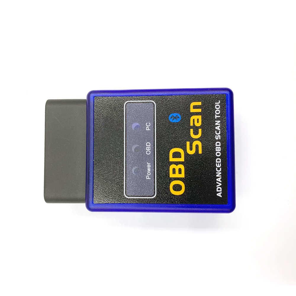 OBDII ELM327 obd2 tarayıcı satış yeni MINI ELM 327 Bluetooth OBD2/gelişmiş obd tarama V2.1 kod tarayıcı
