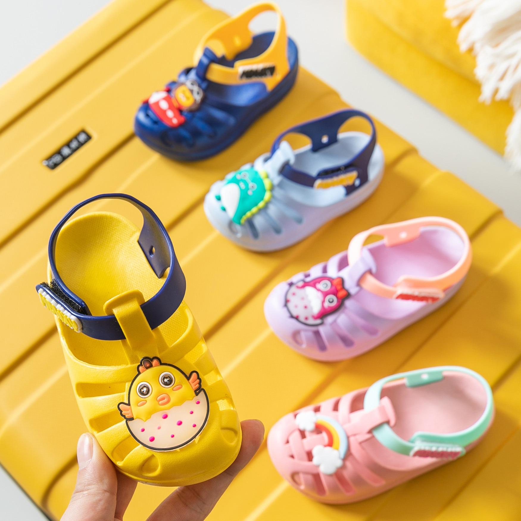 Children's Sandals For Toddler Cute Children's Cartoon Sandals Boy Girls Shoes Dinosaur Rainbow Horse Children Sandals