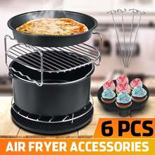 6 PCS Air Fryer Accessories Set for 7 inch and Larger Size Air Fryers Electric Deep Air Fryer