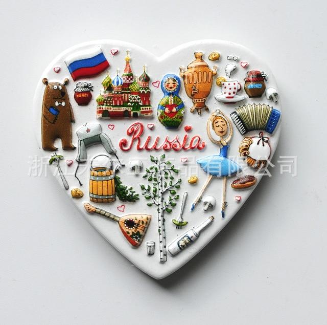3D Resin Refrigerator Stickers World Tourism USA European  London Paris Fridge Magnet Souvenir Magnetic Home Decor Gift Ideas 4
