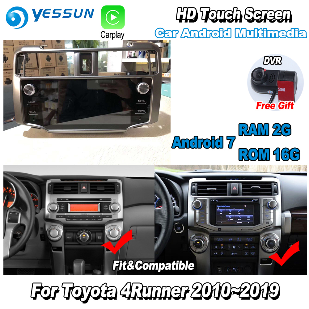 YESSUN Car Multimedia Player NAVI Large screen For <font><b>Toyota</b></font> <font><b>4Runner</b></font> 2010~2019 Original Car Style Radio Stereo GPS Navigation image