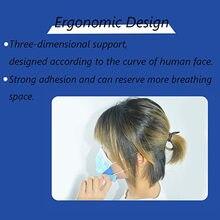 6pc suporte de máscara anti-sufocante reutilizável 3d filtro de máscara antiaderente boca nariz respirável à prova de poeira titular la máscara l * 5