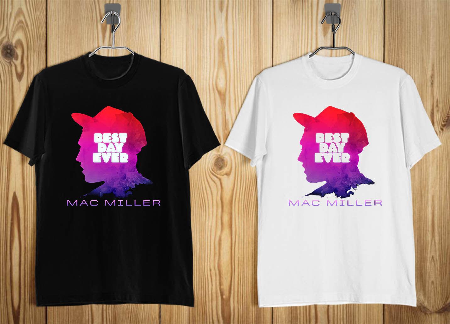Mac Miller Faces Rapper Rap Hip Hop Men'S T-Shirt Black White S-3Xl