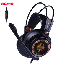 цена на Somic G941 USB 7.1 Virtual Surround Sound Gaming Headset Headphones with Microphone Stereo Bass Vibration for PC PS4 Gamer