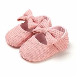 Обувь для новорожденных девочек; мягкая обувь принцессы с бантом; обувь для первых шагов