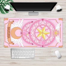 Anime Cardcaptor Sakura Mousepad Gamer Cute 60x30cm kawaii Large Gaming Mouse Pad XL Locking Edge Laptop Notebook Desk Mat(China)