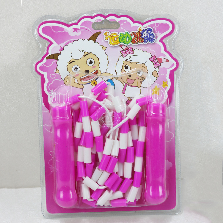 Pleasant Goat And Big Wolf Jump Rope Pleasant Goat Children Beads Jump Rope Yy-242