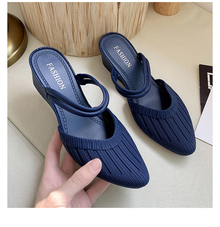 2021wedge heel outer wear half slippers women two wear sandals ladies sandals and slippers women's sandals shoes  fashion shoes