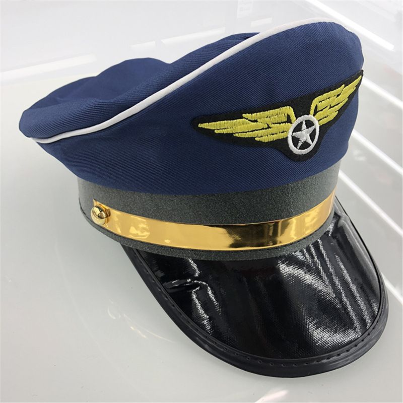 Captain's Yacht Sailors Hat Snapback Adjustable Sea Cap Navy Costume Accessory Q6PD