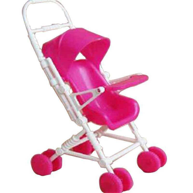 Mini carrinho de bebê walker carrinhos carrinho de compras bonecas para mini bonecas crianças menina móveis boneca crianças brinquedo casa de bonecas móveis