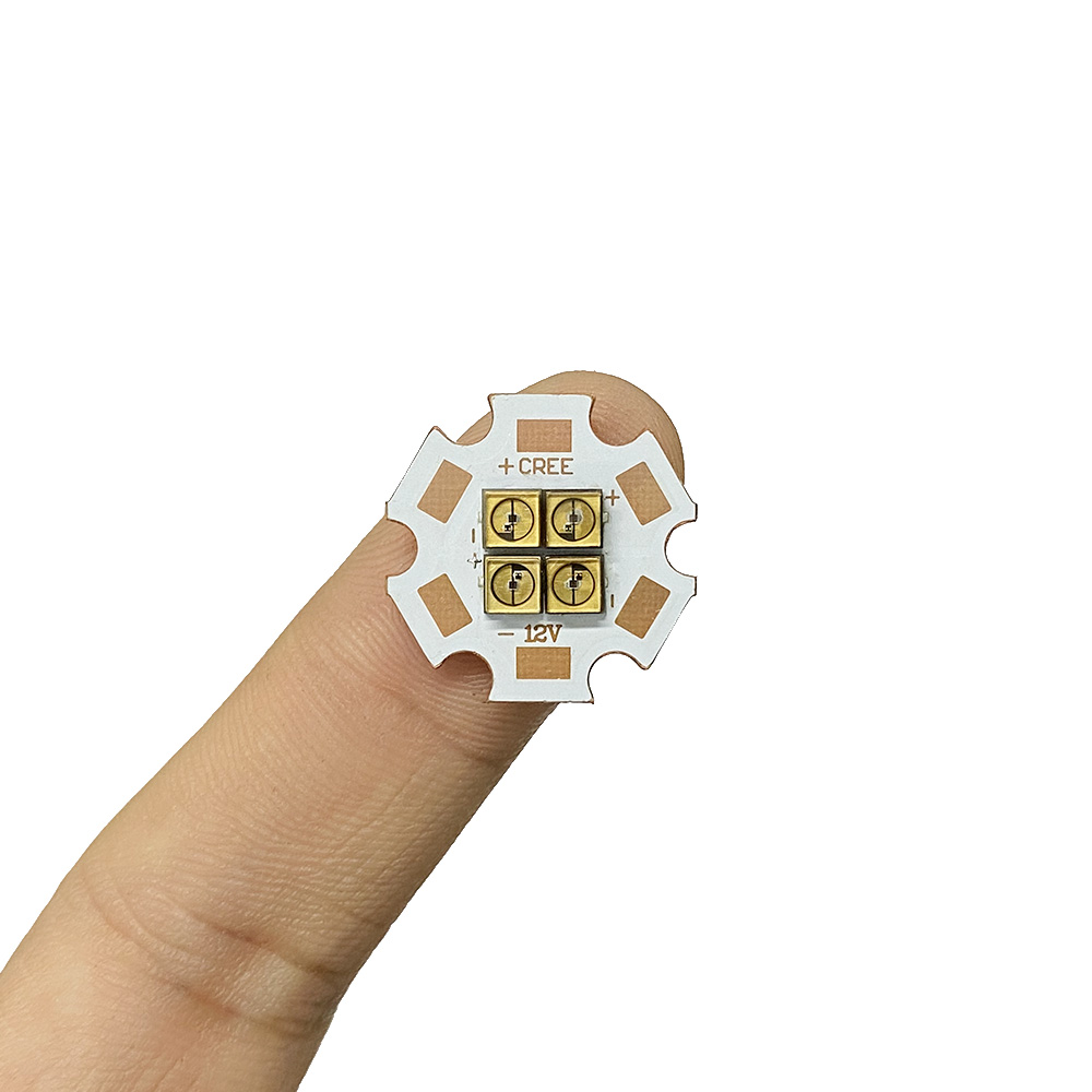 275nm ลึก UVC LED ไดโอด DIODE 3838 โคมไฟ SMD ลูกปัด 6V 12V 24V 4 ชิปสำหรับ UV ฆ่าเชื้อโรคอุปกรณ์ 285nm Steriliza ไฟฉาย BOARD