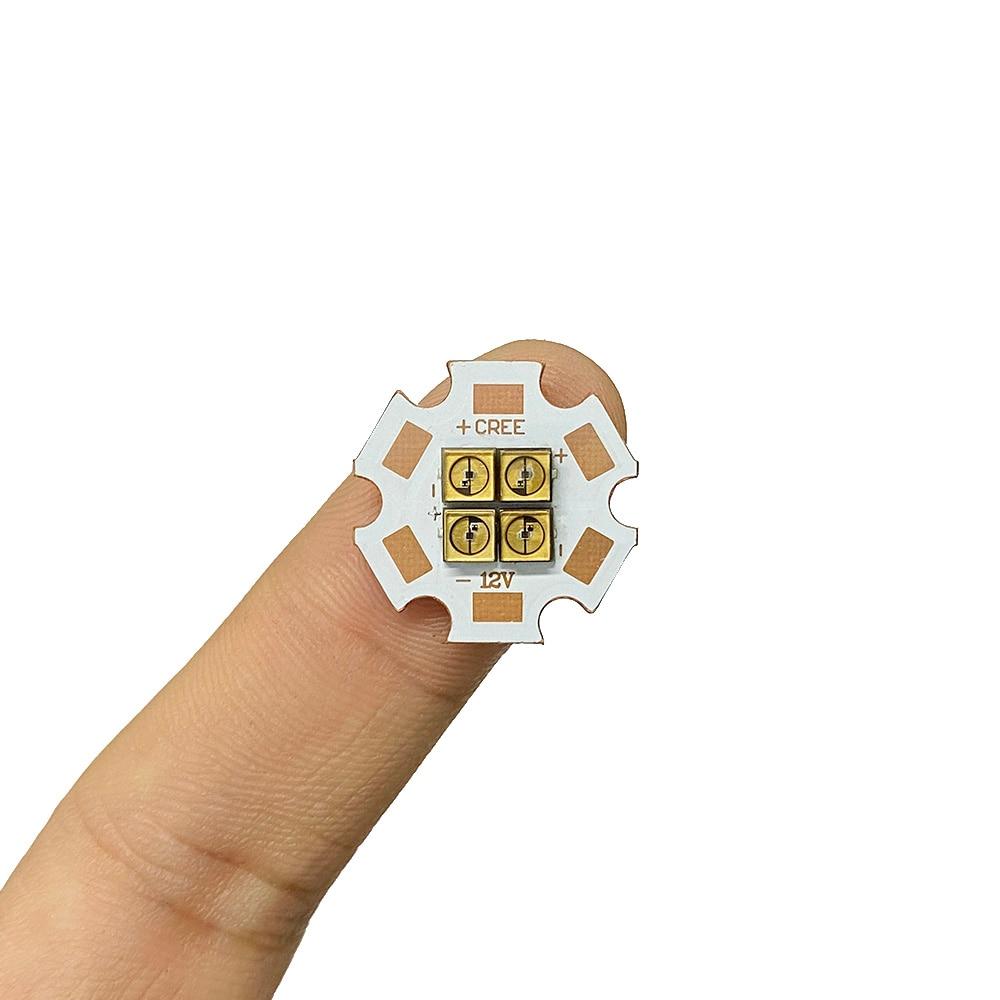 275nm Deep UVC LED Diode 3838 Lamp SMD Beads 6V 12V 24V 4Chips For UV Disinfection Equipment 285nm Steriliza Flashlight Board
