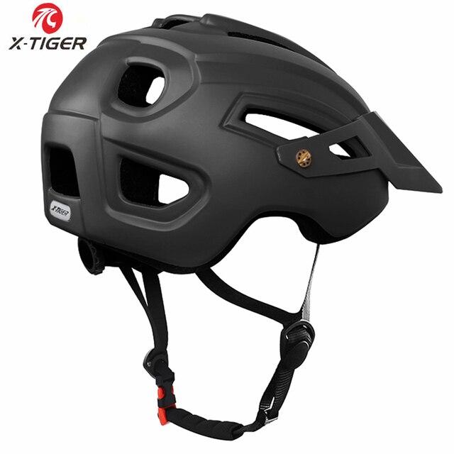 X-TIGER capacete de ciclismo trail xc capacete de bicicleta in-mold mtb capacete da bicicleta de estrada de montanha capacetes de segurança das mulheres dos homens 4