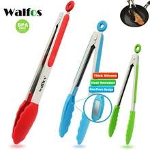 WALFOS-Pinza de silicona 100% para alimentos, utensilios de cocina, pinzas para cocinar, accesorios, utensilios para servir ensalada y barbacoa