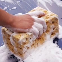 Chłonna gąbka koralowa o strukturze plastra miodu makroporowaty samochód Auto gąbka do mycia blok o strukturze plastra miodu szmatka do czyszczenia samochodu żółty środek do mycia samochodów narzędzia tanie tanio JOSHNESE CN (pochodzenie) 20cm clean 11cm dropshipping