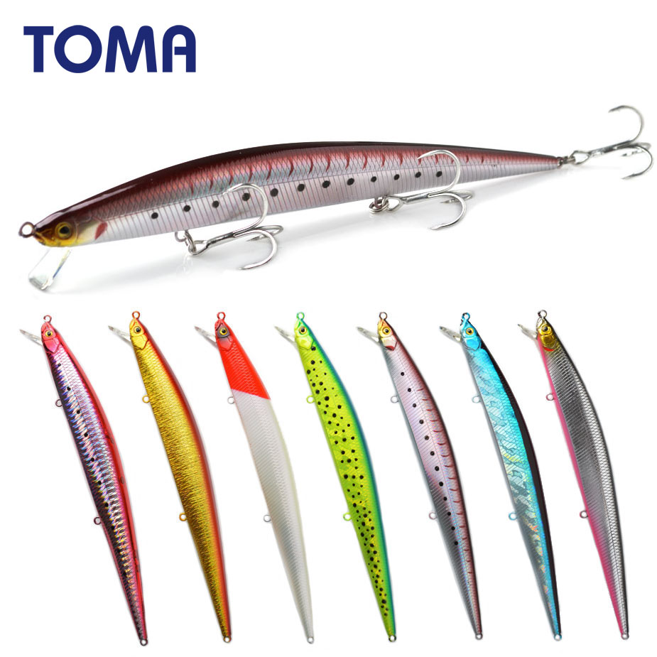 TOMA Suspend Wobbler Fishing Lure 175mm 27g Slow Floating Minnow Crankbait Bass Pike Bait Fishing Tackle