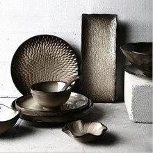 Vintage ceramic dish Dinner Plate Ceramic Kitchen Tableware Set Food Dishes Rice Salad Noodles Bowl Soup Cook Tool