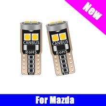 T10 LED Canbus 3030 10pcs No Error W5W Bulb Car Dome Light For Mazda 3 6 CX-5 323 5 CX5 2 626 Spoilers MX5 CX 5 GH CX-7 GG CX3 guang dian 4x led canbus for ma z da 2 3 6 323 5 626 axela cx 5 mx5 demio cx 7 rx8 t10 w5w 2835 chip clearance lights width lamp