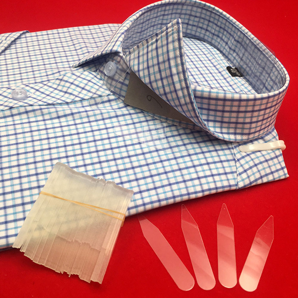 2000Pcs Plastic Collar Stiffeners Stays Bones Set For Dress Shirt Men's Gifts Clear Plastic Collar Stays 5cm 6cm 6.5cm 7.5cm