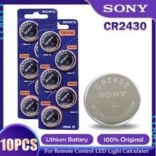 10 pçs/lote sony cr2430 cr 2430 dl2430 br2430 kl2430 botão baterias de moeda para relógio fone ouvido aparelhos auditivos brinquedo 3v bateria lítio