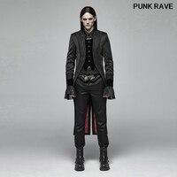 Gothic Jacquard Velveteen Lace Slim Party nightClub Swallow Tail Coat Palace noble Gorgeous Men Long Jacket PUNK RAVE WY 1007LCM