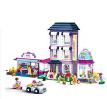 Playground from 0579 to 972 pieces of the dream city Pink street girl Friends building blocks toy