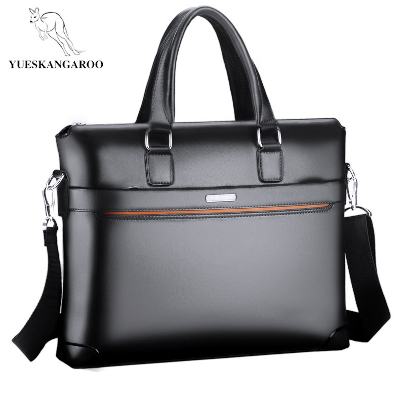 YUESKANGAROO New Men's Shoulder Bag Business Crossbody Bag PU Leather Briefcase High Quality Handbag Computer Messenger Bags