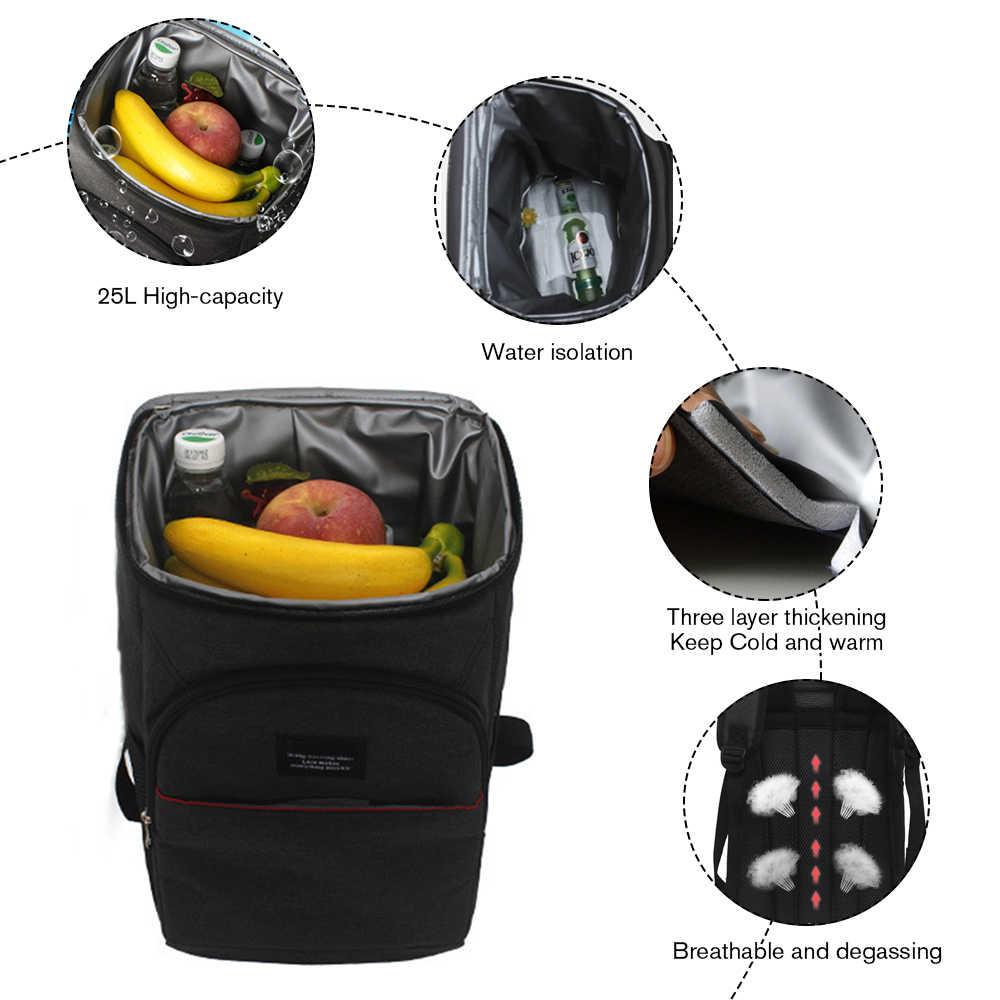 Coolingกระเป๋าเป้สะพายหลังFamily Picnicเก็บอาหารขนาดใหญ่หนาฉนวนกันความร้อนOrganizer