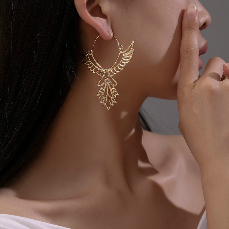 Fashion Eagle Wings Earrings Angel Wings Drop Earrings For Women Metal Ethnic Earing Gold Silver Color Earings Jewelry Earring