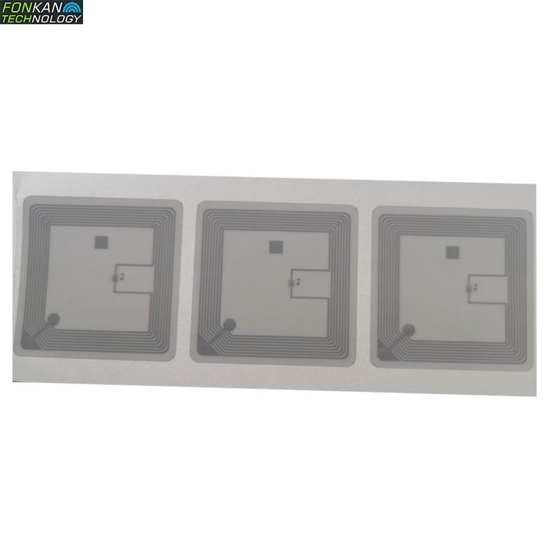 1000pcs 50*50mm HF 13.56Mhz 15693 NXP ICODE SLIX Or Fudan FM13HF02N-TS Library Label Book Label RFID Tag