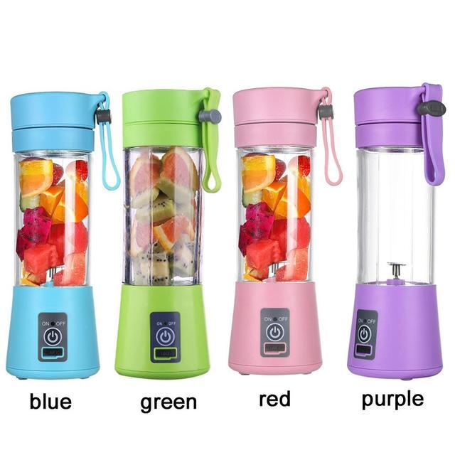 Portable Blender 400ML 6Blade USB Mixer Electric Juicer Machine Smoothie blender Mini Food Processor Personal  Juice Blender Cup