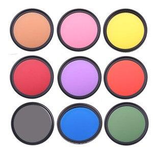 Image 1 - Full Color DSLR Camera Lens Filter 49mm 52mm 55mm 58mm 62mm 67mm 72mm 77mm Blue Red Orange full color Lens Filter