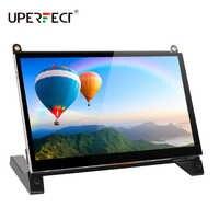 UPERFECT-pantalla LCD HD de 7 pulgadas para Raspberry Pi 1024X600, Monitor HDMI con soporte para Raspberry Pi 3 2 Modelo B + 3B 2B + A +