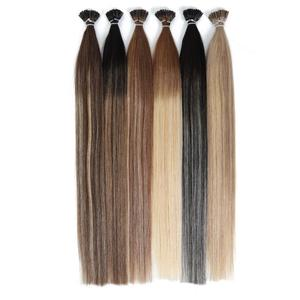 MRS HAIR Ombre Pre-Bonded I Tip Hair Balayage Color Cold Fusion Straight Hair Machine Remy Stick Hair Extensions Full Head 1g/pc