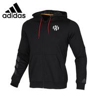 Nova chegada original adidas fleece fz jaqueta masculina com capuz esportiva