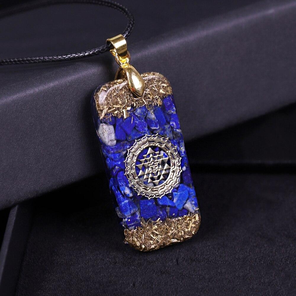 Lapis Lazuli Orgon Energie Anhänger Natürliche Steine Halskette Reiki Kristall Anhänger Healing Schmuck Für Frauen|Anhänger-Halsketten|   - AliExpress