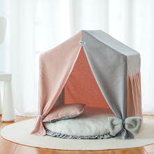 Cat Tent Bed, Cat House Bed, Pet Teepee Bed Portable Tents & Houses Nest with Removable Cushion Pad for Cat Small Dogs Sleep Bed