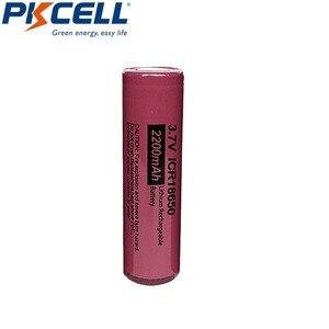 Image 3 - 4Pcs 3.7 V Li Leone Batteria PKCELL ICR 18650 3.7 Volt 2200mAh Batteria Ricaricabile