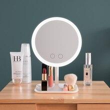 Зеркало для макияжа со светодиодсветильник кой, туалетный столик, зеркало с кольцесветильник светом для красоты, косметические инструменты для фото, заполнясветильник маленькие зеркала