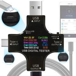 12 w 1 kolor PD USB tester DC woltomierz cyfrowy napięcie prądu typu C miernik amp amperomierz wykrywacz power bank ładowarka wskaźnik w Mierniki napięcia od Narzędzia na