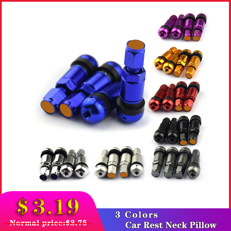 4pcs / Set Universal Motorcycle Car Wheel Tubeless Tire Valve Air Caps For Tire Valve Stem Aluminum Metal Air Valve Stem