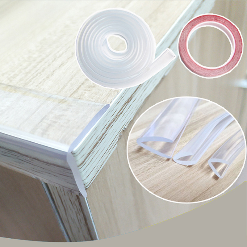 1m. Baby Proof, Child Necessary Protection, Baby And Children Safety, Cut Design, Edge Protection, Transparent Corner Protector
