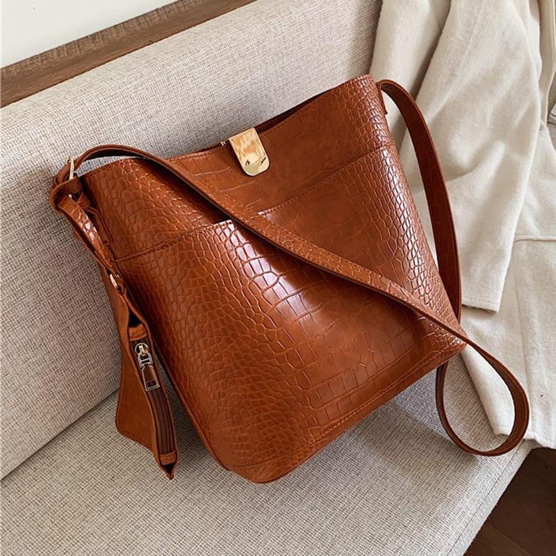 Luxury Handbags Women Bags Designer Bucket Crocodile Pattern Crossbody Bags for Women Over Shoulder Bags Small Ladies Handbags