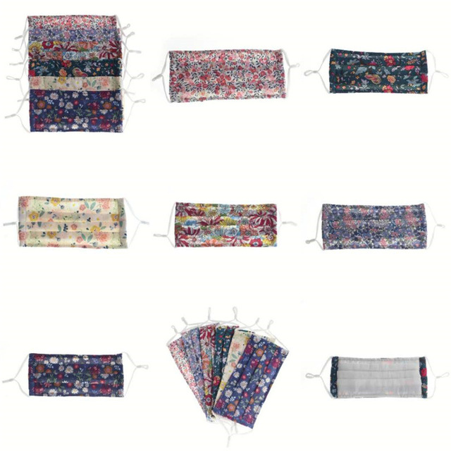 Small Floral Reusable and Washable Masks Fashion Printed Cotton Masks Dust-proof Breathable Men And Women Male And Female Daily 3