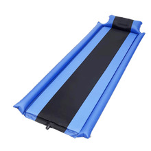 Outdoor Camping Automatic Air Mattress Portable Single Pillow Mattress Automatic Inflatable Sponge Camping Mat Thickening Moistu 2019 self inflating camping roll mat pad sleeping bed polyester outdoor automatic inflatable pillow air mattress